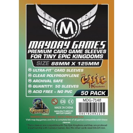 Fundas Mayday Premium Custom Tiny Epic Kingdoms 88mm x 125mm [ref:7148]
