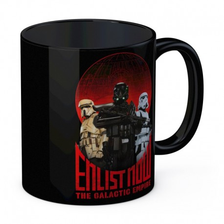 ENLIST NOW TAZA NEGRA CERAMICA STAR WARS ROGUE ONE