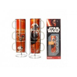 BB-8 - DROIDES SET 3 TAZAS APILABLES CERAMICA STAR WARS EP7