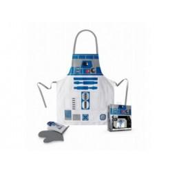 R2-D2 DELANTAL Y MANOPLA PACK TRANSPARENTE STAR WARS