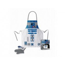 R2-D2 DELANTAL Y MANOPLA PACK TRANSPARENTE STAR WARS