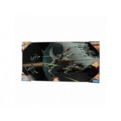 CAZA TIE VS ALA X POSTER DE VIDRIO STAR WARS 60x30 CM