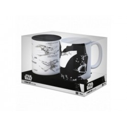 PACK OFERTA 6: SKYWALKER + X-WING SET 2 TAZAS STAR WARS