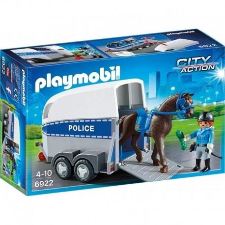 *Policía con Caballo y Remolque
