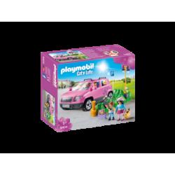 PLAYMOBIL-9404 - Coche Familiar con Parking