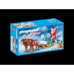 PLAYMOBIL-9496 - Trineo de Papá Noel con Reno