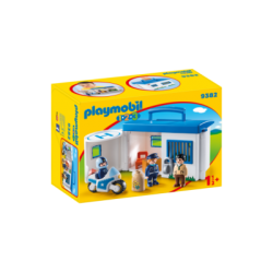 PLAYMOBIL-9382 - 1.2.3 Comisaría Policía Maletín