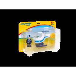 PLAYMOBIL-9383 - 1.2.3 Helicóptero de Policía