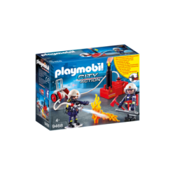 PLAYMOBIL-9468 - Bomberos con Bomba de Agua