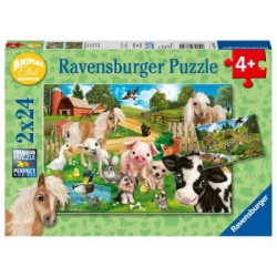 Puzzle 2 X 24 Pz: Animal club
