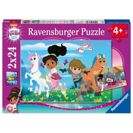 Puzzle 2 X 24 Pz: Nella la princesa valiente