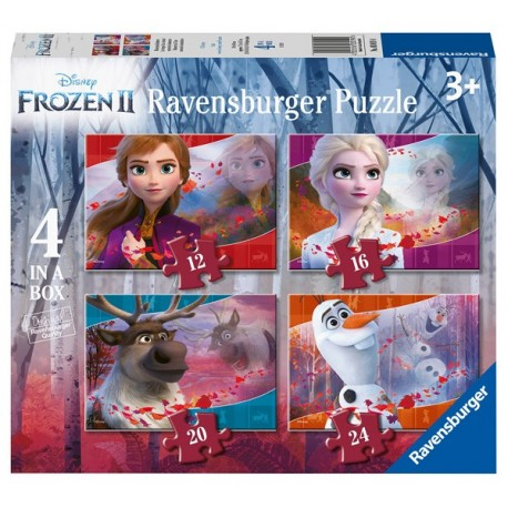 Puzzle 4 en 1: Frozen 2