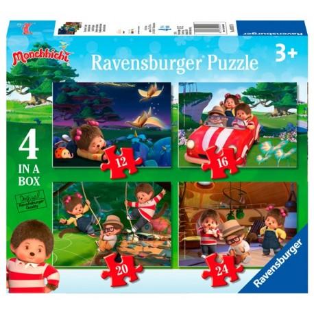 Puzzle 4 en 1: Monchhichi