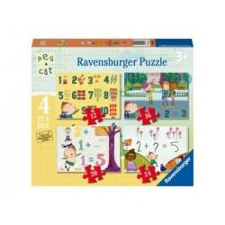 Puzzle 4 en 1: Peg + Cat