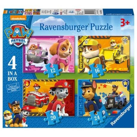 Puzzle 4 en 1: Ppl Paw Patrol