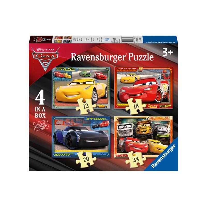 Puzzle 4 en 1: Cars 3