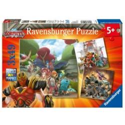 Puzzle 3 X 49 Pz: Gormiti
