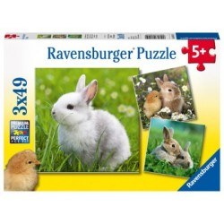 Puzzle 3 X 49 Pz: Conejitos lindos