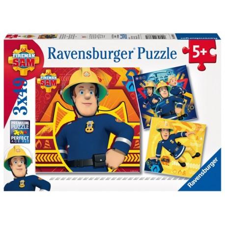 Puzzle 3 X 49 Pz: Sam El Bombero