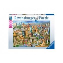 Puzzle 1000 Pz -  Fotos y Paisajes: Hitos del mundo