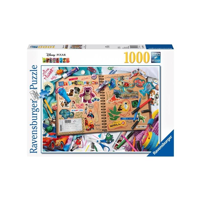 Puzzle 1000 Pz - Disney: Disney Pixar Scrapbook