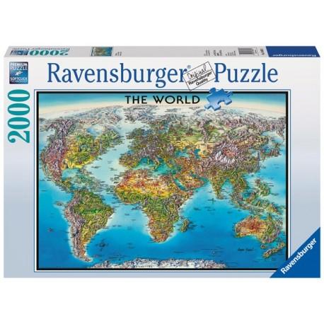 Puzzle 2000 Pz: Mapa Del Mundo