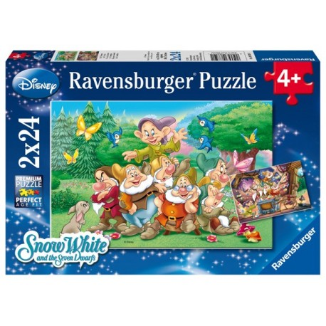 Puzzle 2 X 24 Pz: Los Siete Enanitos