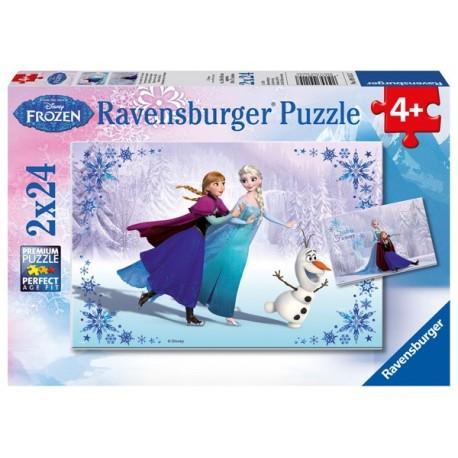 Puzzle 2 X 24 Pz: Frozen