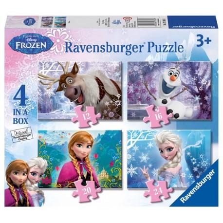 Puzzle 4 en 1: Frozen