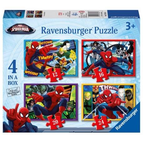 Puzzle 4 en 1: Ultimate Spiderman