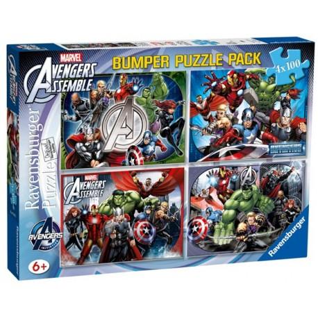 Puzzle 4 X 100 Bumper Pack: Avengers