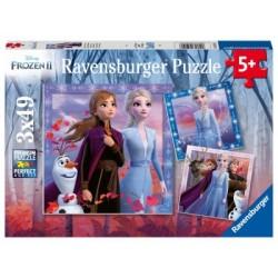 Puzzle 3 X 49 Pz: Frozen 2