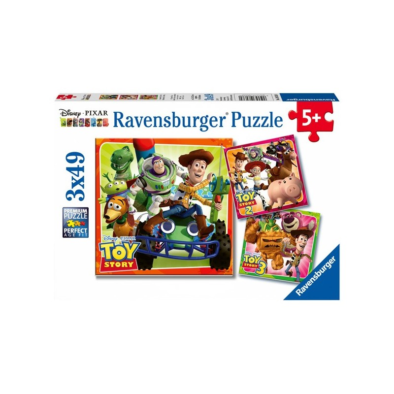 Puzzle 3 X 49 Pz: Toy Story History