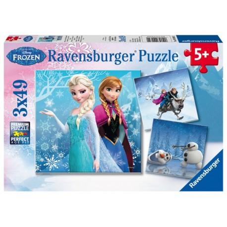 Puzzle 3 X 49 Pz: Frozen B