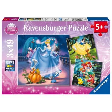 Puzzle 3 X 49 Pz: Princesas Disney A