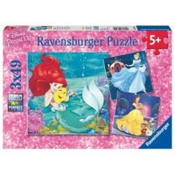 Puzzle 3 X 49 Pz: Princesas Disney B