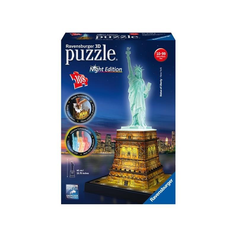 Puzzle 3D - Serie Especial: Estatua De La Libertad- Night Edition