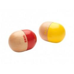 BRIO Instrumento musical: maracas con forma de huevo