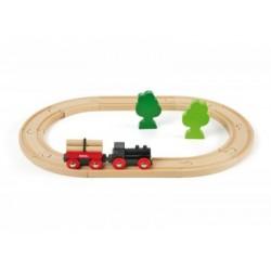 BRIO Set circuito de tren con bosquecito