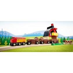 BRIO Set circuito de tren con granja
