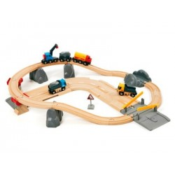 BRIO Set circuito de tren y carretera con cantera