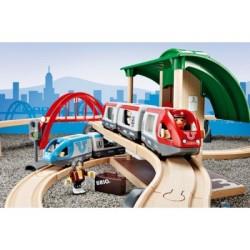 BRIO Set circuito de tren de pasajeros con transbordo