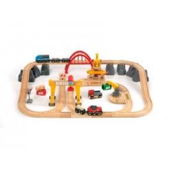 BRIO Set deluxe de circuito de tren para transporte de mercancías