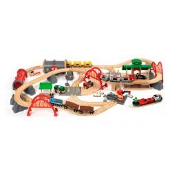 BRIO Set circuito de tren deluxe