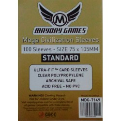 Standard Mega Civilization Sleeves 75x105 mm [ref:7149]