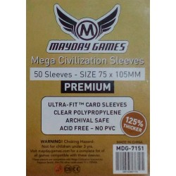 Premium Mega Civilization Sleeves 75x105mm [ref:7151]