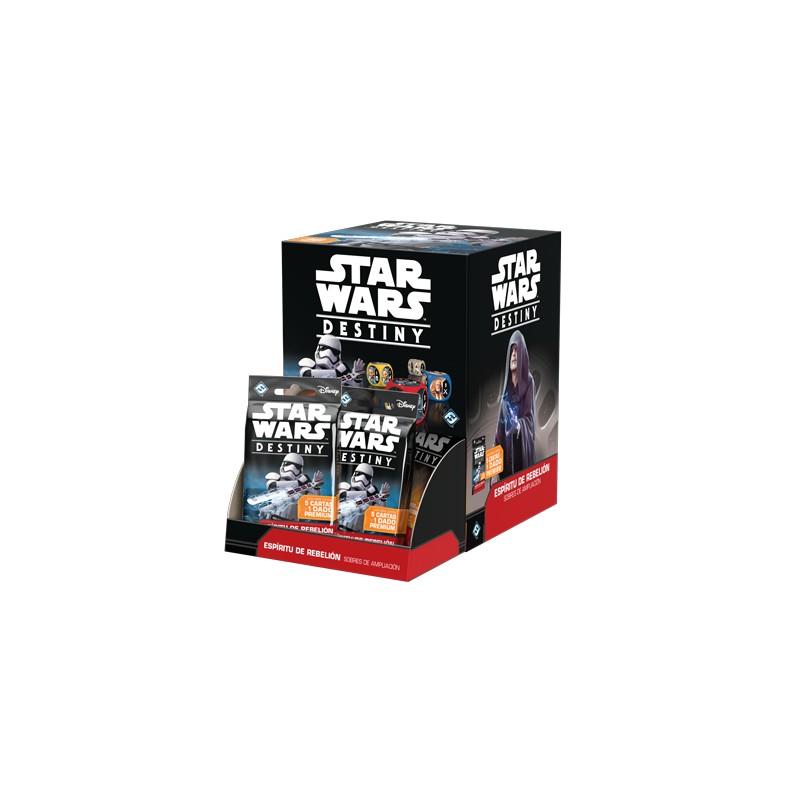 Star Wars Destiny: Espíritu de rebelión Expositor de Sobres de Ampliación