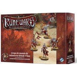 Runewars: El juego de miniaturas - Grupo de mando de infantería Uthuk Y'llan