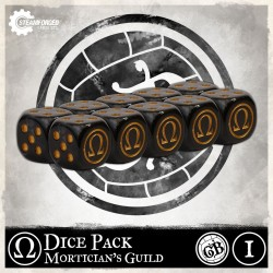 Guild Ball: Mortician's Dice x10 (Inglés)