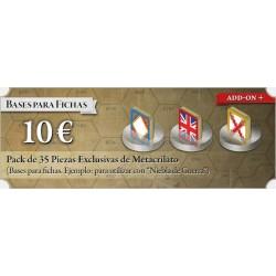 España 20: Pack 35 Bases de Metacrilato para fichas